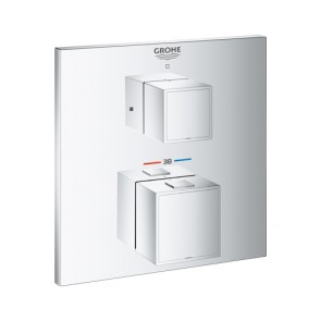 Grohtherm Cube □ Sichtteil UP-Thermostat 1-Abgang chrom