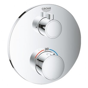 Grohtherm O Sichtteil UP-Thermostat 1-Abgang chrom