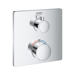 Grohtherm □ Sichtteil UP-Thermostat 1-Abgang chrom